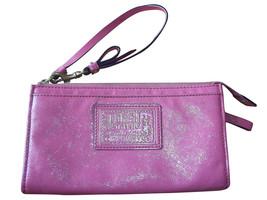 Coach Daisy Coral Liquid Gloss Zippy Wallet Wri... - $42.06