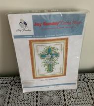 Brand New Joy Sunday Counted Cross Stitch Kit J018 The Cross Lily 10 x 14 - $11.49
