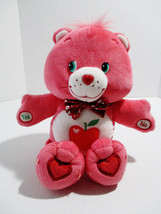 "Smart Heart Bear 13"" Talking Care Bears Pink Plush Stuffed Animal Apple ... - $30.10"