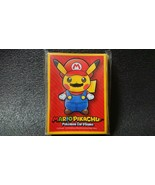 MARIO Pikachu Deck Shield 64 Sheets Trading Card Game Pokemon Center Ori... - $36.47