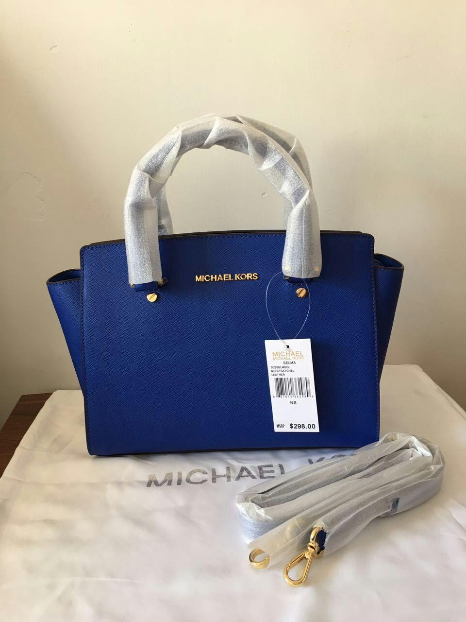 3f2225d087 Qq 20170114140034. Qq 20170114140034. Previous. Michael Kors Women s Selma  Medium Top Zip Satchel Satchel Handbag Electric Blue