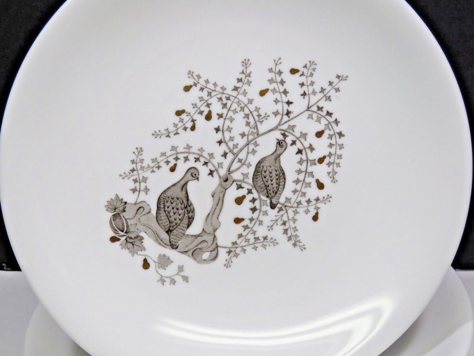 """Set of 6 Wedgwood PARTRIDGE IN A PEAR TREE Lunch Salad Dessert Plates 8"""""""
