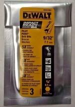 "Dewalt DD5018B3 9/32"" Impact Ready Drill Bits 3-Pack - $6.93"