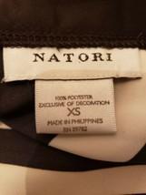 NATORI Silky Feel Slinky Nightgown Black White Striped Chemise XS Slip Gown - $29.00