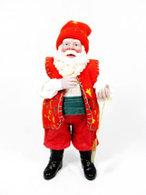 Possible Dreams Clothique 2000 Santa in Red Hat Red Vest Holding A Bird - $39.59