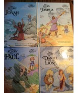 Set of 4 Bible stories the tales Joshua Jonah Paul Daniel Alice Joyce Da... - $18.97