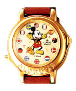 Mickey Mouse Disney Lorus Flag Musical Plays Its A Small World Unworn Watch $125 - $123.60