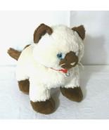 Build A Bear Siamese Himalayan Cat Plush Stuff Toy Cream Brown Blue Eyes... - $19.79