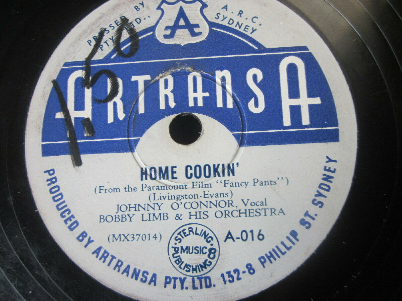 "Primary image for 10"" 78 rpm RECORD ARTRANSA A-016 BOBBY LIMB HOME COOKIN / I WANNA BE LOVED"