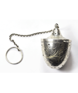 "Vintage Sterling Silver Top Shaped 2-1/4"" Tea Ball Infuser Chain & Size ... - $98.99"