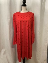Old Navy Womens Red Polka Dot Long Sleeve Casual Dress Knee Length XL St... - $18.76