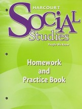Harcourt Social Studies: Homework and Practice Book Student Edition Grad... - $8.47