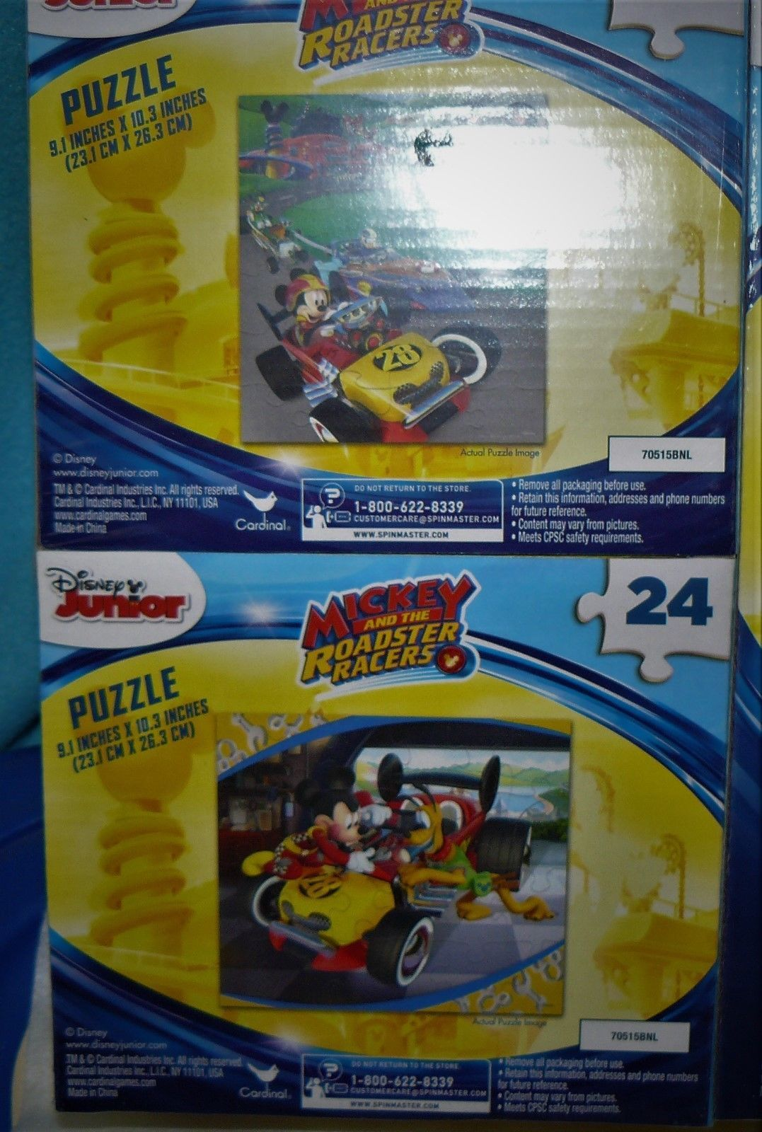 Mickey and Roadster Racers 24 Piece Puzzle 2 Pk