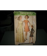 Simplicity 8498 Misses Dress in 2 Lengths Pattern - Size 16 Bust 38 Wais... - $11.01