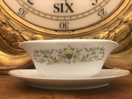 Florentine Gravy Boat Sterling Fine China Mint Attached underplate - $19.79