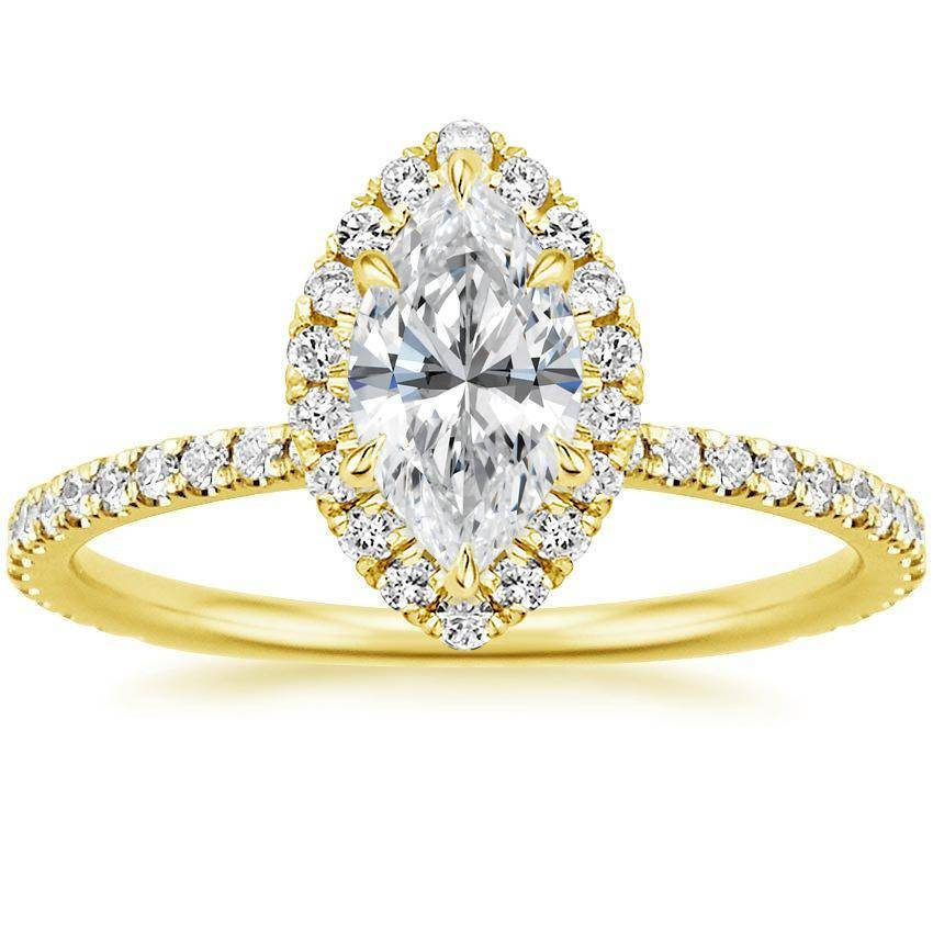 marquise round cut simulated diamond halo engagement. Black Bedroom Furniture Sets. Home Design Ideas