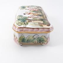 Vintage CAPODIMONTE Cherub Porcelain Trinket Dresser Box image 8