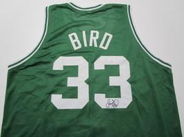 LARRY BIRD / NBA HALL OF FAME / AUTOGRAPHED BOSTON CELTICS CUSTOM JERSEY / COA