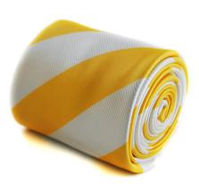 Frederick Thomas giallo e bianco motivo a Righe Artigianale