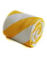 Frederick Thomas giallo e bianco motivo a Righe Artigianale - $24.36
