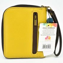 Chala Handbags Faux Leather Whimsical Llama Yellow Zip Around Wristlet Wallet image 2