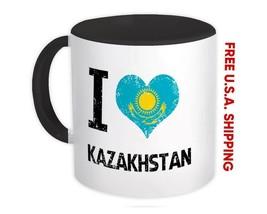 I Love Kazakhstan : Mug Heart Flag Country Crest Gift Kazakh Expat - $13.37+