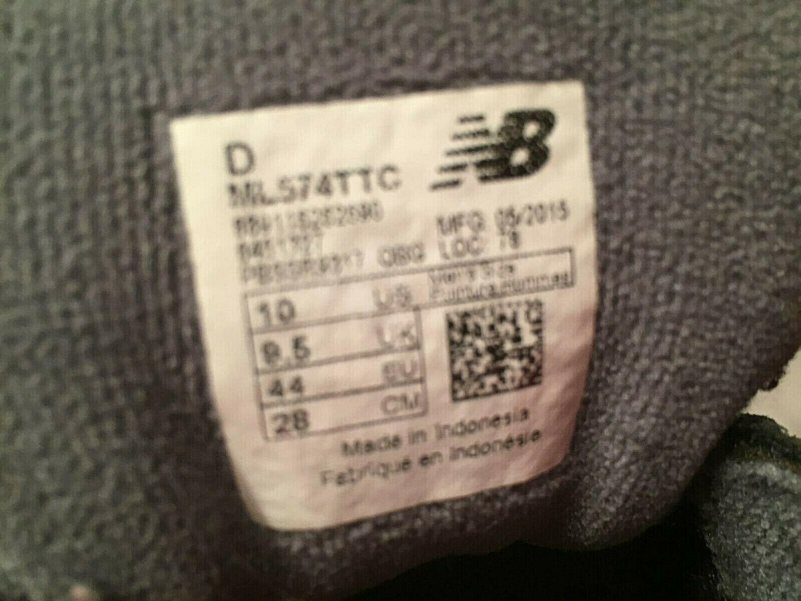 New Balance Men's 574 ML574TTC Gray Sweatshirt Sneakers Trainers Size 10 D