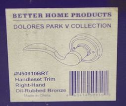 Better Home Products N50910BRT Handle Set Trim Right Hand Oil Rubbed Bronze image 6
