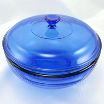 Pyrex 024 Cobalt Blue Bowl 2 qt Serving Casserole w/ 024C Lid Made in the USA image 3