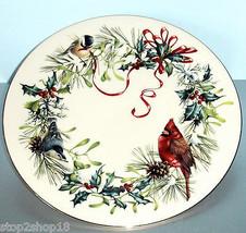 "Lenox Winter Greetings Dinner Plate 10.75"" Garden Birds Motif New - $26.90"