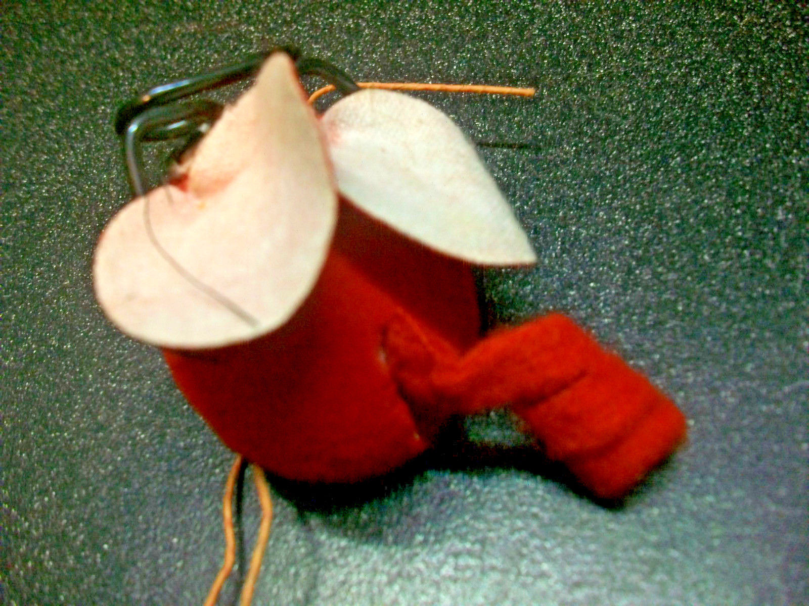 6 CURLY TAIL MOUSE CHRISTMAS ORNAMENTS MICE PACKAGE WREATH TREE CRAFT DECORATION