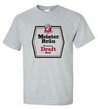 Meister Brau T-shirt classic 1970s beer gray cotton blend retro graphic tee image 1