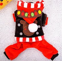 NACOCO Pet Costumes Dog Christmas Suit Dog Elk Costume Dog Birthday Clot... - £10.68 GBP