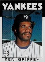 1986 Topps Baseball Card, #40, Ken Griffey, New York Yankees - $0.99