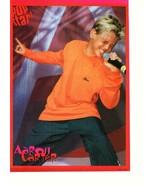 Aaron Carter teen magazine pinup clipping 90's jeans orange shirt Pop Star - $3.50