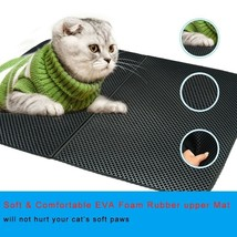 Waterproof Pet Cat Litter Mat Double Layer Litter Cat Pad Bed For Cats f... - $22.07