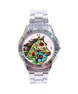 Day Of The Dead Horse Stainless Steel Analogue Watch - $19.99