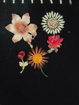 VINTAGE  ESTATE LOT OF  SIGNED FLOWER BROOCHES - $123.75