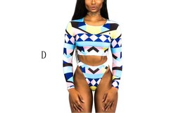 Women's Long Sleeves Crop Top Bikini Set image 6