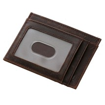 Tiding Slim Genuine Leather Front Pocket Wallets RFID Credit Card and Cash Holde - $14.71