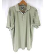 Patagonia Short Sleeve Zip Polo Shirt (Mens Large) Beige - $15.99
