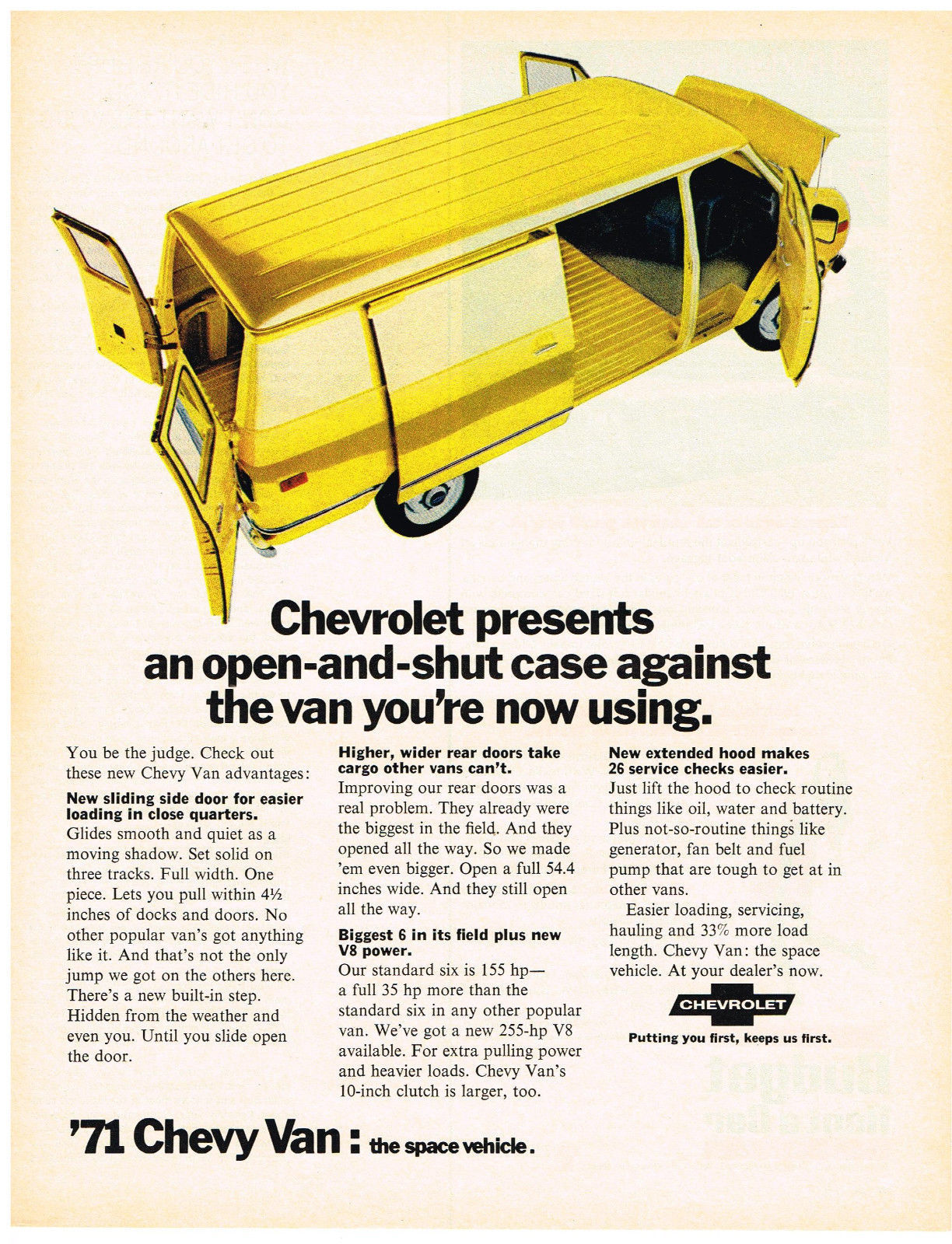 Vintage 1971 Magazine Ad For Chevrolet Truck Putting You First Keeps Us First - $5.93
