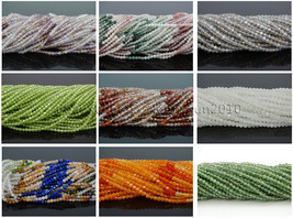 Grade AAA Brilliant Cut Shining Natural Gemstones 3mm Faceted Round Bead... - $19.80+