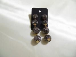 "Thalia Sodi Gold Tone 3-1/2"" Beaded Dangle Drop Earrings H851 $28 - $12.47"