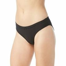 No Boundaries Women's Cotton Bikini Panties Size 3XL Solid Black Ribbed  - $11.38