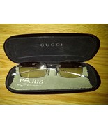 Gucci Brown Tint Lens Silver Rimless Frames Eyeglasses Sunglasses Shades... - $149.99