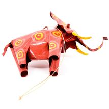 Handcrafted Painted Colorful Recycled Aluminum Tin Can Elephant Ornament image 5
