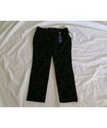 Charter Club Velvet Floral Black Rinse Lexington Denim Straight Leg Jean... - $43.01