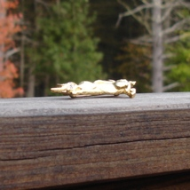 Vintage trifari tm clear crystal gold plated unicorn pin2 thumb200