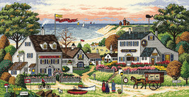 """Dimensions/Gold Collection Counted Cross Stitch Kit 18""""X9""""-Cozy Cove (18 Count) - $44.95"""